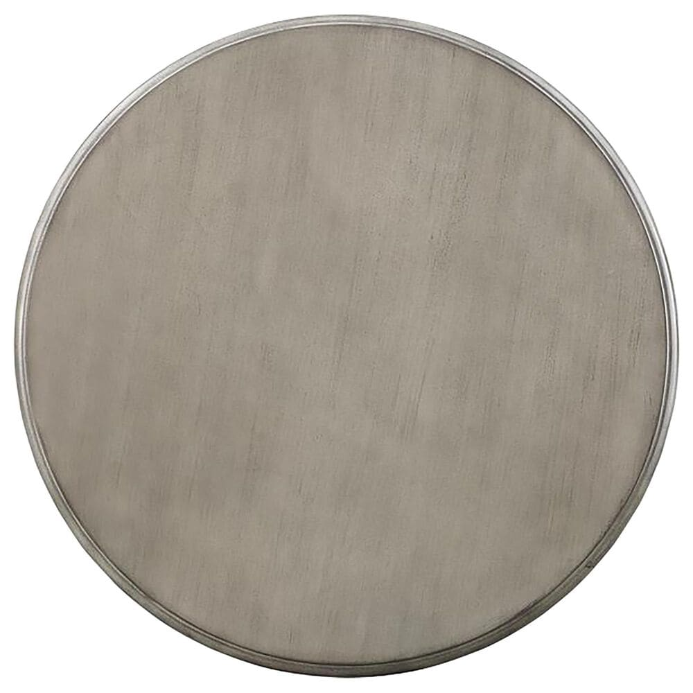 Shell Island Furniture Round Wood Accent Table in Cape Cod Gray, , large