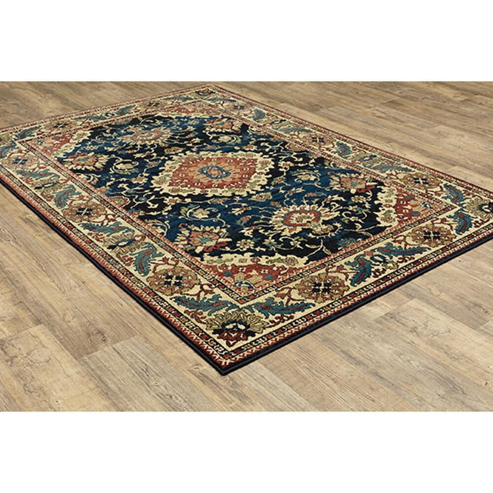 "Oriental Weavers Ankara Oriental 1803B 3'10"" x 5'5"" Blue Area Rug, , large"