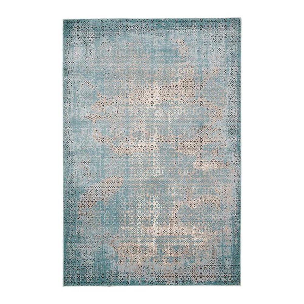 "Nourison Karma KRM01 3'9"" x 5'9"" Blue Area Rug, , large"