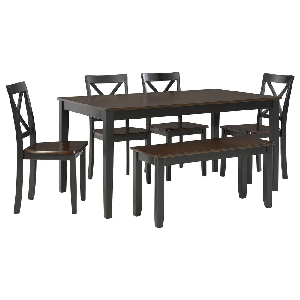 Signature Design by Ashley Larsondale 6-Piece Dining Set in Brown and Black, , large