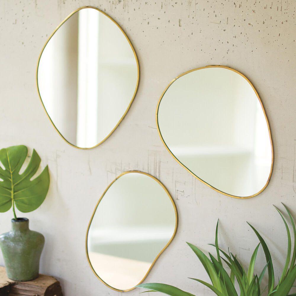 Kalalou Mirror in Brass (Set of 3), , large