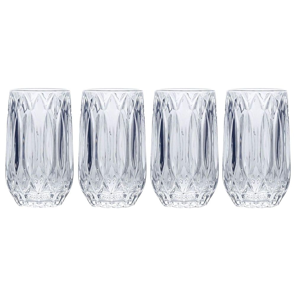 Lifetime Brands Mikasa Saxon 13 Oz Highball Glasses in Clear - Set of 4, , large
