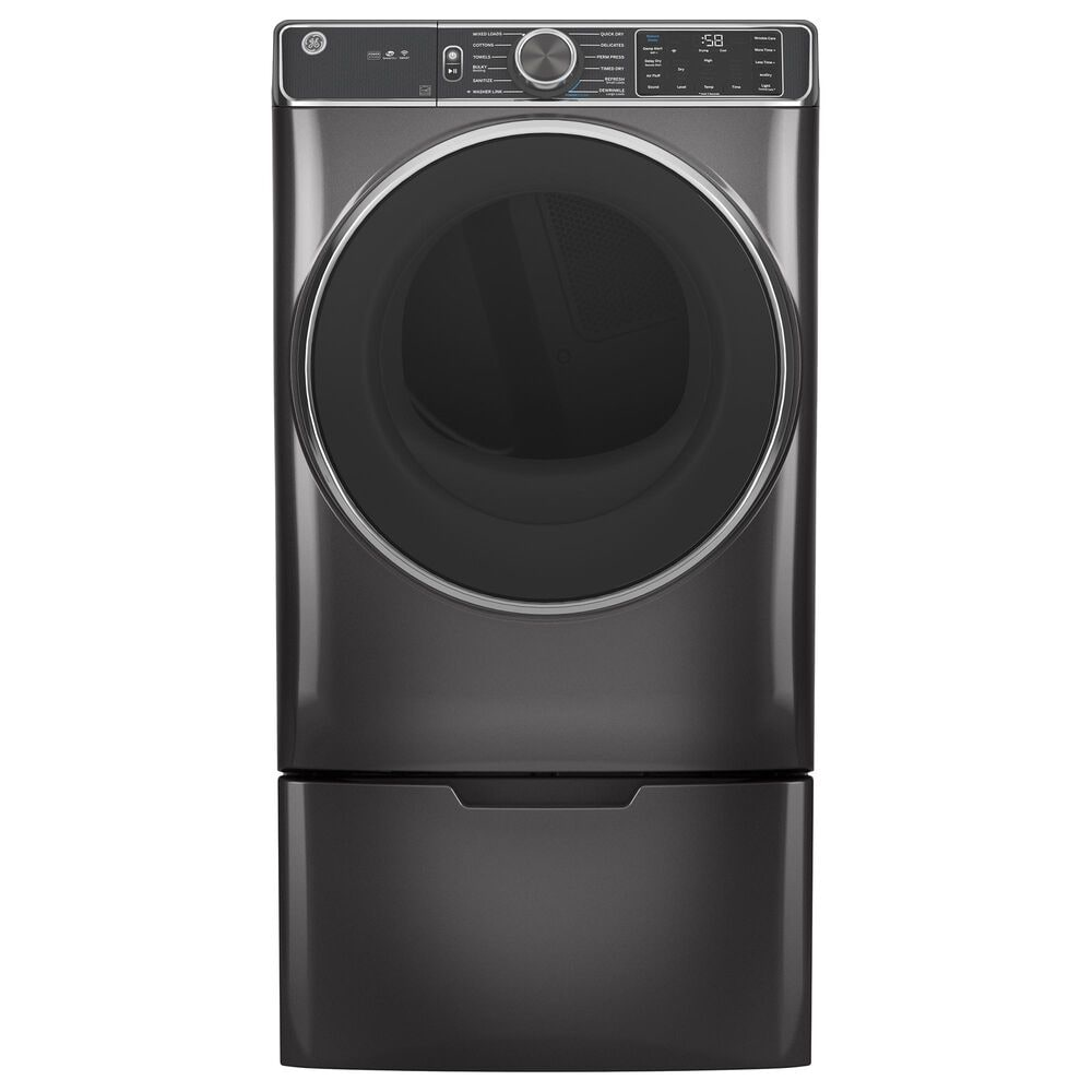 GE Appliances 7.8 Cu. Ft. Gas Dryer with Steam Cycle in Diamond Gray, , large