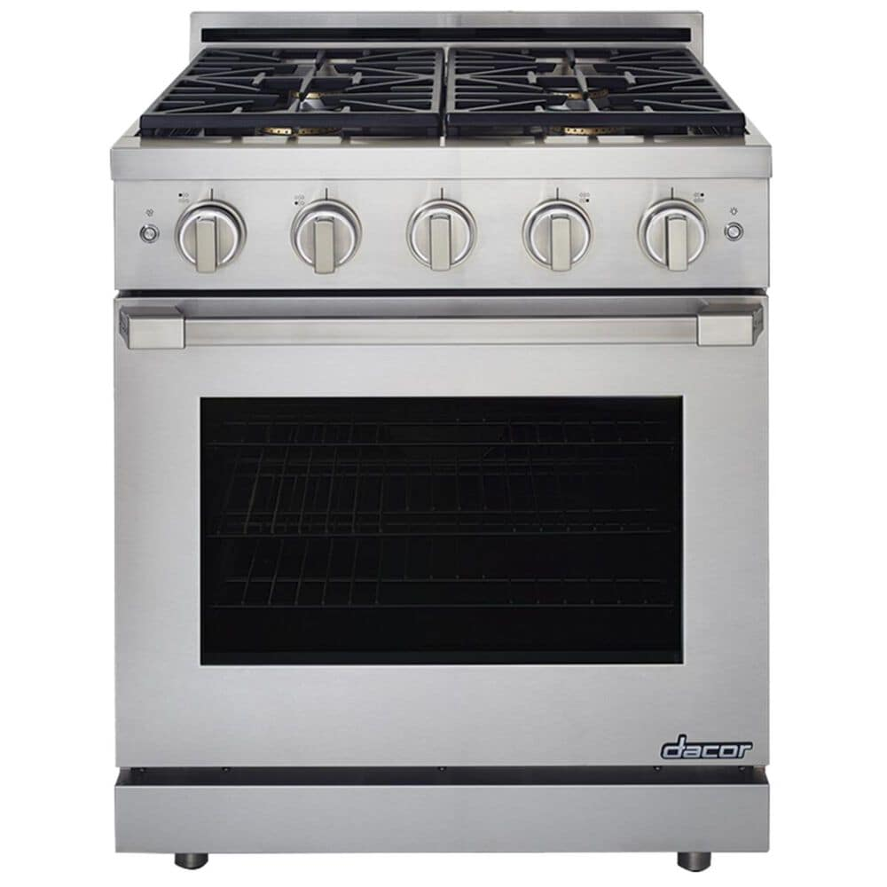 "Dacor Heritage Self 30"" Natural Gas High Altitude Dual Fuel Range in Stainless Steel, , large"