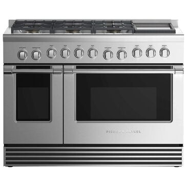 """Fisher and Paykel 48"""" Professional Natural Gas Range with 6-Burner in Stainless Steel, , large"""