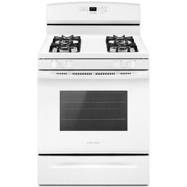Amana 5.0 Cu. Ft. Gas Range with Self-Clean Option in White, , large