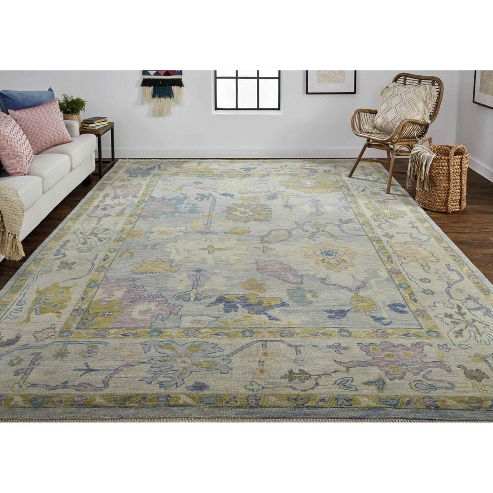"""Feizy Rugs Karina 8'6"""" x 11'6"""" Silver and Green Area Rug, , large"""
