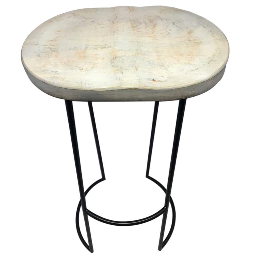 37B 30 Inch Wood Top Barstool in White, , large