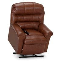 Moore Furniture Hewett Lift Recliner with Heat and Massage in Whiskey Brown