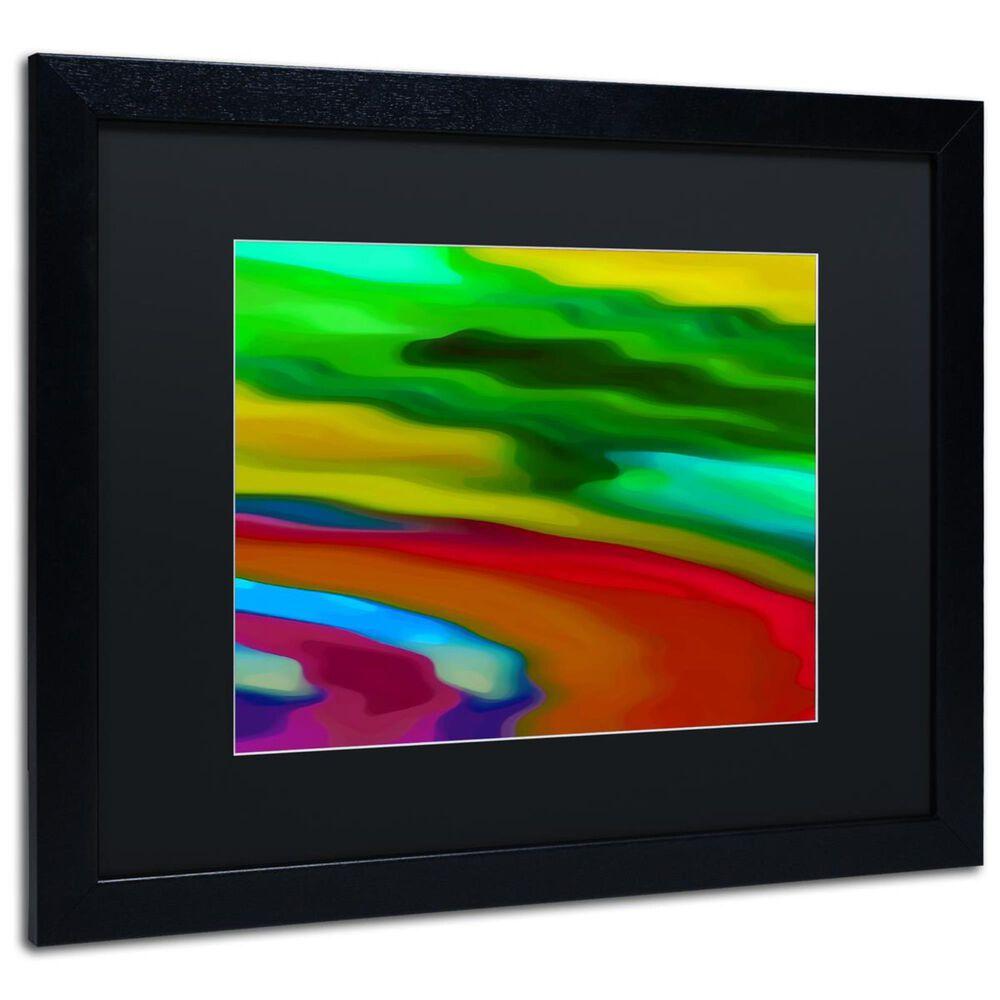 """Timberlake 16"""" x 20"""" River Runs Through 3 Art in Black Matting and Black Frame, , large"""