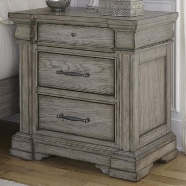 Chapel Hill Madison Ridge 3 Drawer Nightstand in Bluff Gray, , large