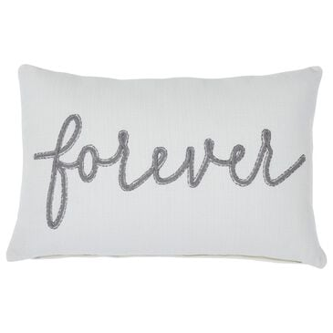 Signature Design by Ashley Forever Pillow in White and Gray, , large