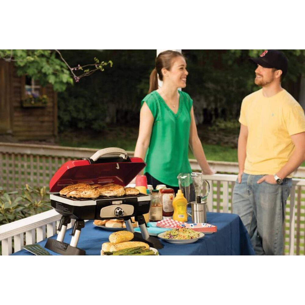 Cuisinart Portable Tabletop Gas Grill in Red, , large