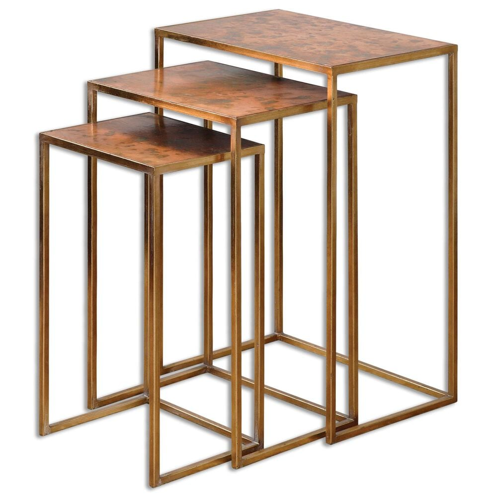 Uttermost Copres Nesting Tables Set of Three in Bronze , , large