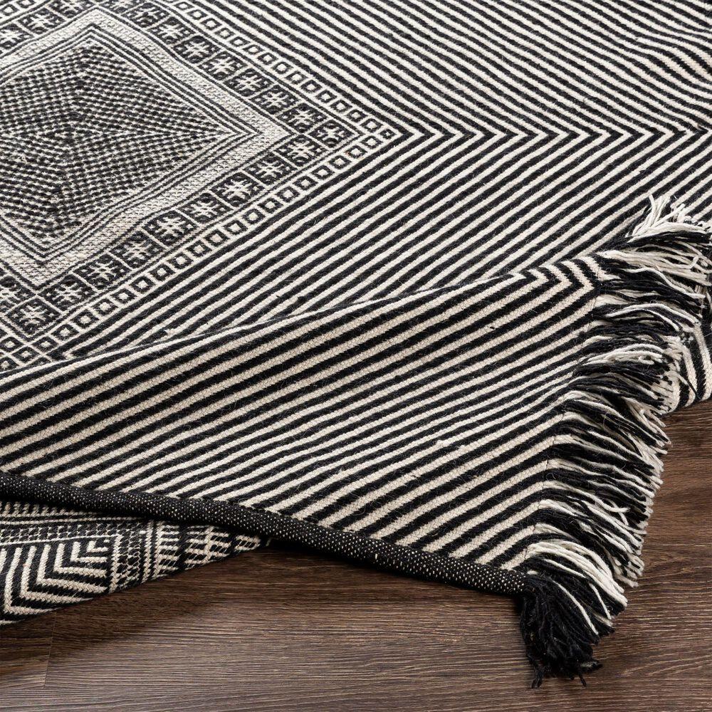 "Surya Zanafi ZNF-2302 5' x 7'6"" Black and White Area Rug, , large"
