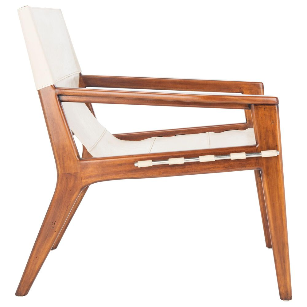 Safavieh Culkin Chair in White/Brown, , large
