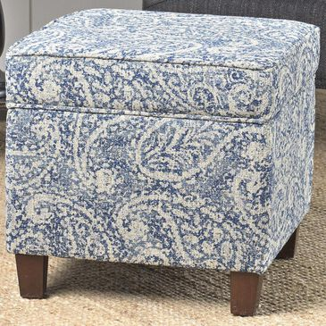 Kinfine Square Storage Ottoman in Blue and Gray, , large