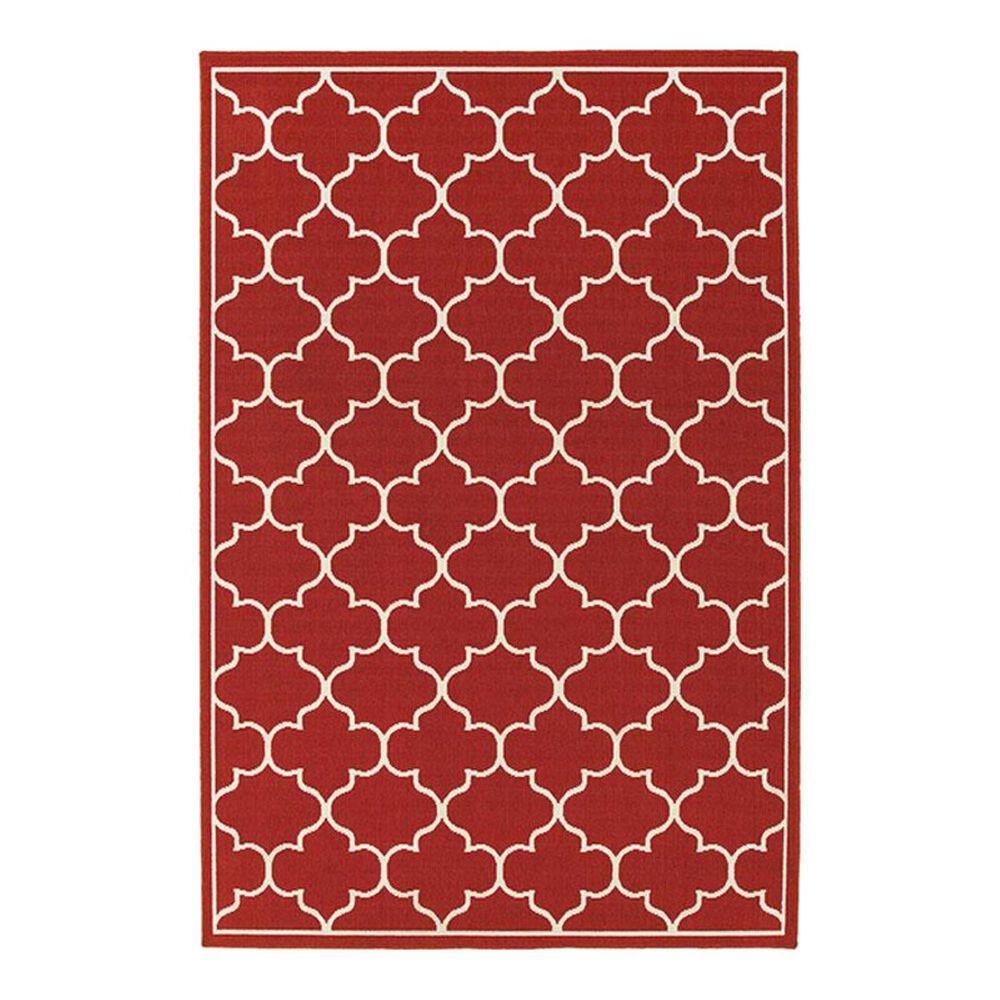 """Oriental Weavers Meridian 1295R 7'10"""" x 10'10"""" Red Area Rug, , large"""