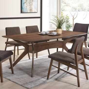 Mayberry Hill Razor Dining Table in Walnut, , large