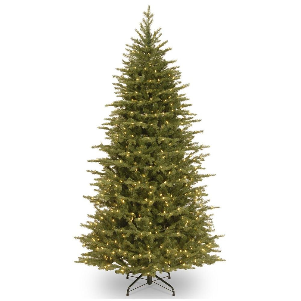 """National Tree 6.5"""" Feel Real Nordic Spruce Slim Hinged Tree with 650 White Lights, , large"""