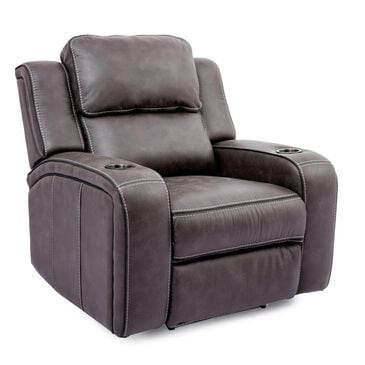 Oxford Furniture Power Recliner with Power Headrest in Granite Gray, , large