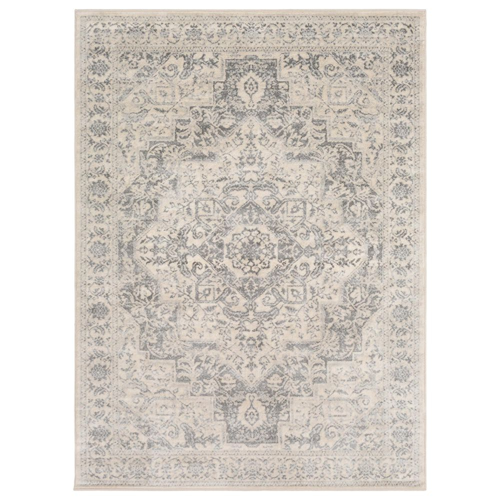 Surya Monaco MOC-2315 2' x 3' Silver Gray and Cream Scatter Rug, , large