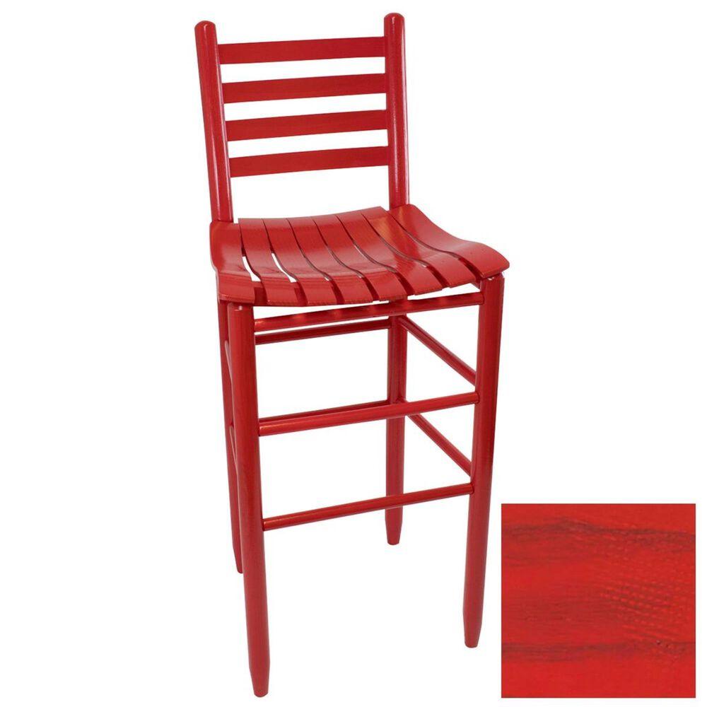Lakeside Asheville Ladderback Barstool in Woodleaf Red, , large