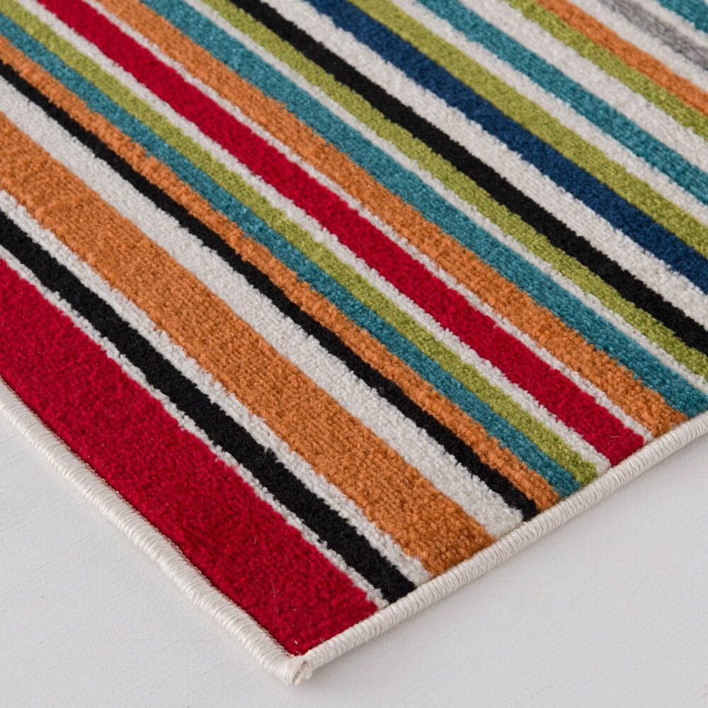 """Central Oriental Terrace Tropic Santee 2310MN.084 7'10"""" x 9'10"""" Red and Blue Area Rug, , large"""