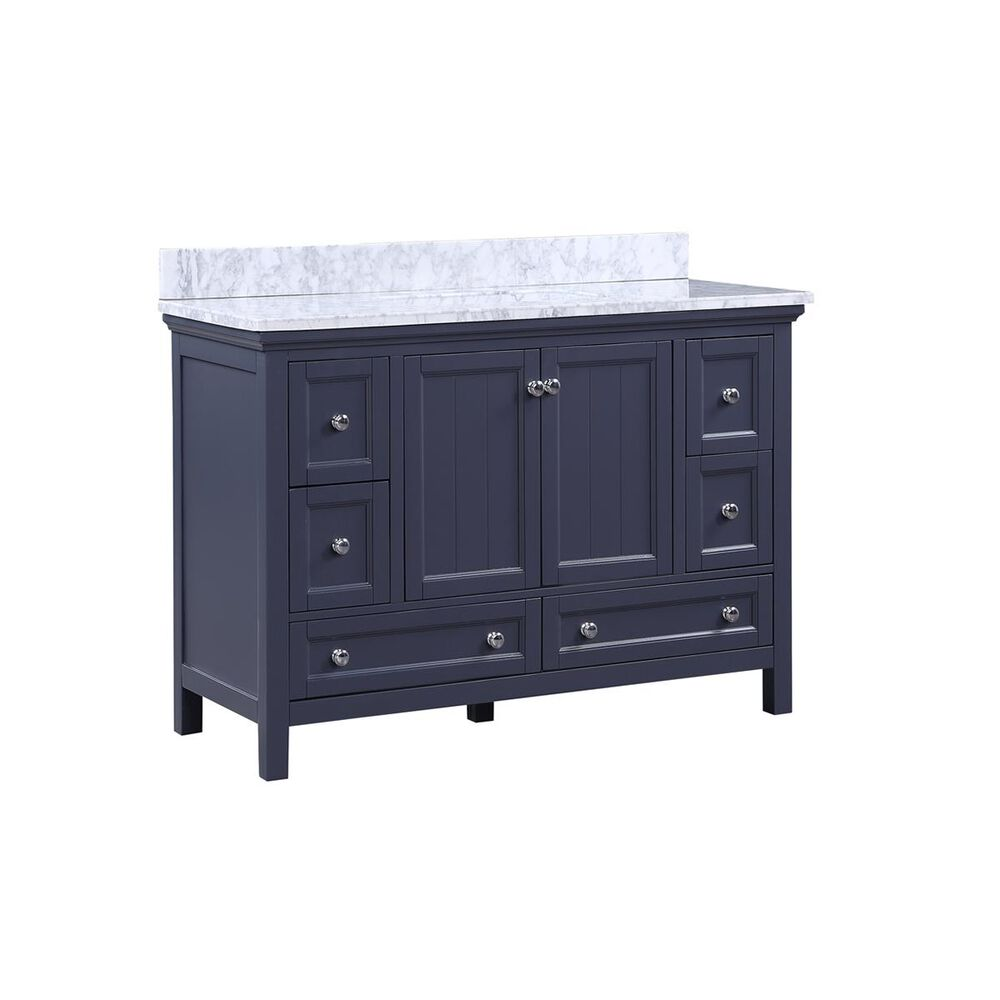 """Aurafina Cunningham 48"""" Vanity with Top and Sink in Harbor Blue, , large"""
