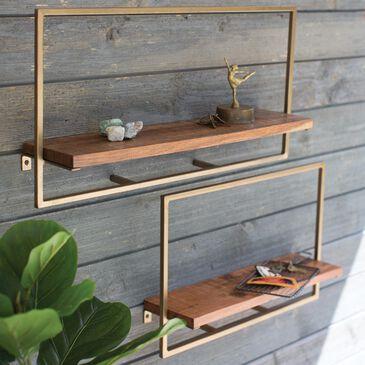 Kalalou Industrial Wood Shelves (Set of 2), , large