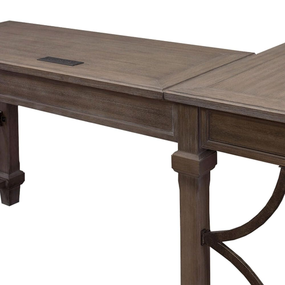 Wycliff Bay Carson Open L-Shaped Desk in Weathered Dove, , large