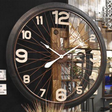 Yosemite Home Decor Bicycle Mood Wall Clock in Black, , large