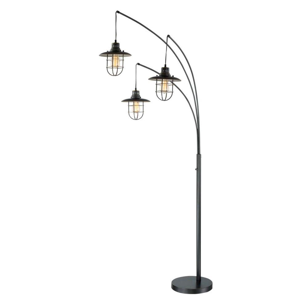 Lite Source 3-Lite Arch Lamp in Dark Bronze, , large