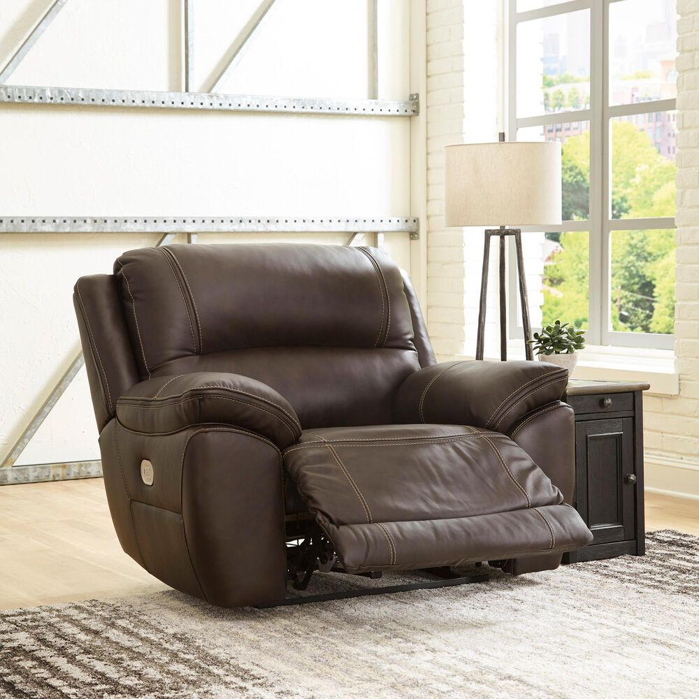 Signature Design by Ashley Dunleith Zero Wall Power Recliner with Power Headrest in Chocolate, , large