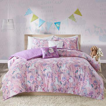 Hampton Park Lola 5-Piece Full/Queen Coverlet Set in Pink, , large