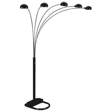 Claremont Peacock Floor Lamp in Black, , large