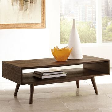 Signature Design by Ashley Kisper Rectangular Cocktail Table in Dark Brown, , large