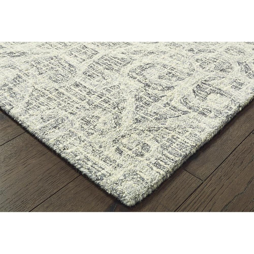 """Oriental Weavers Tallavera 55602 2'6"""" x 8' Grey and Ivory Runner, , large"""