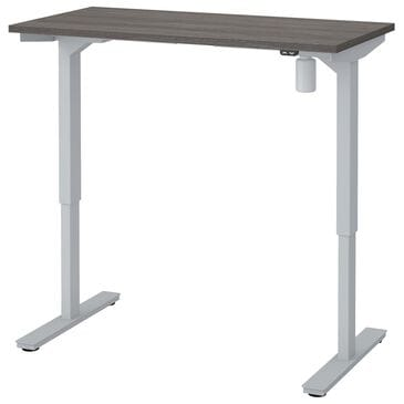 """Bestar 48"""" Height Adjustable Table in Bark Gray, , large"""