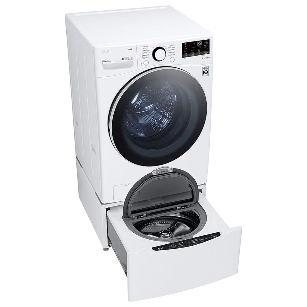 LG 4.5 Cu. Ft. Front Load Washer with Steam Technology in White, , large