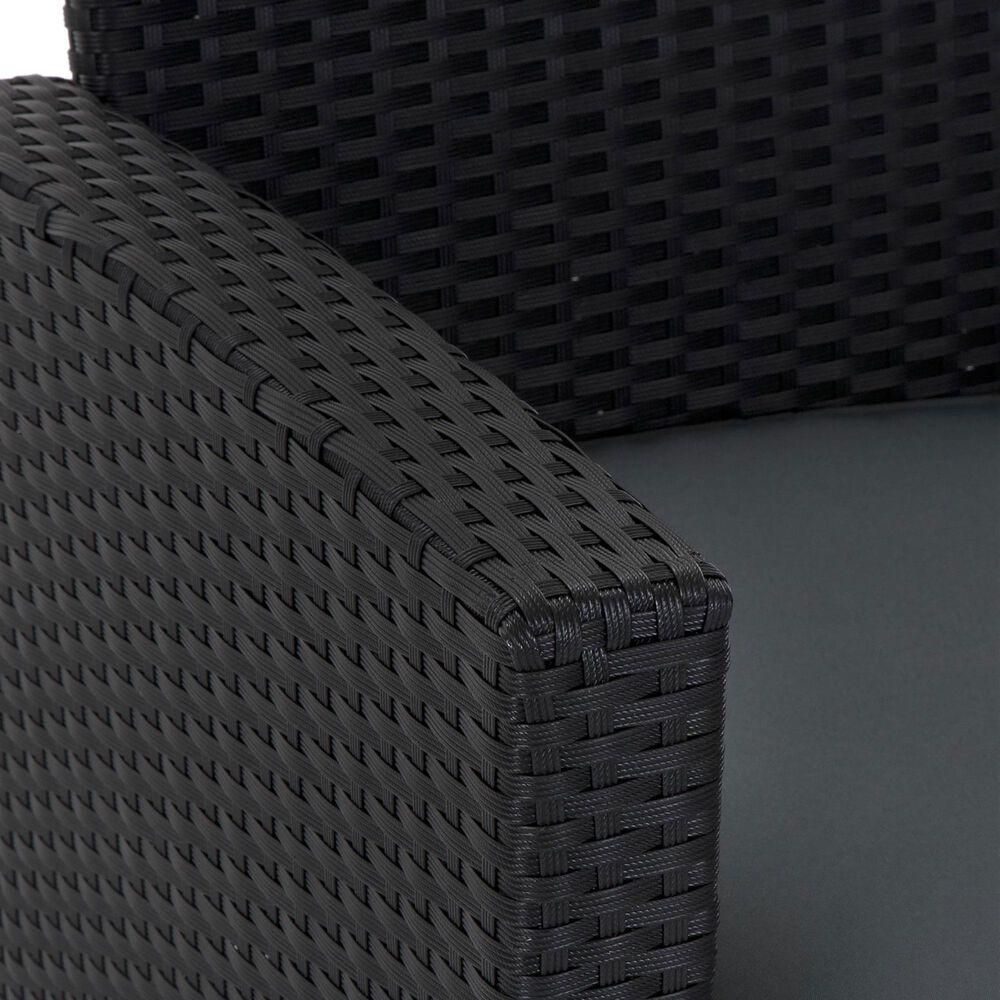 DHP Malmo 4-Piece Patio Conversation Set in Gray/Black, , large