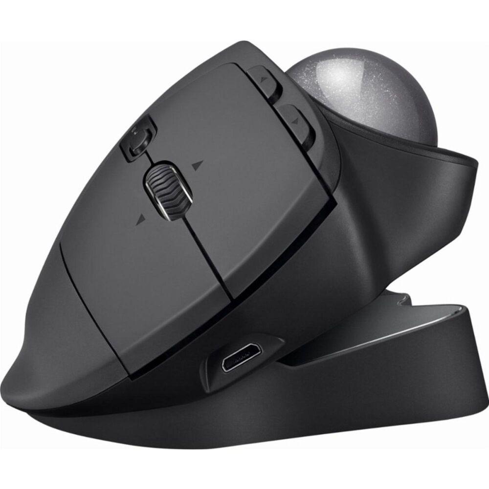 Logitech MX Ergo Plus Wireless Trackball Mouse in Graphite, , large