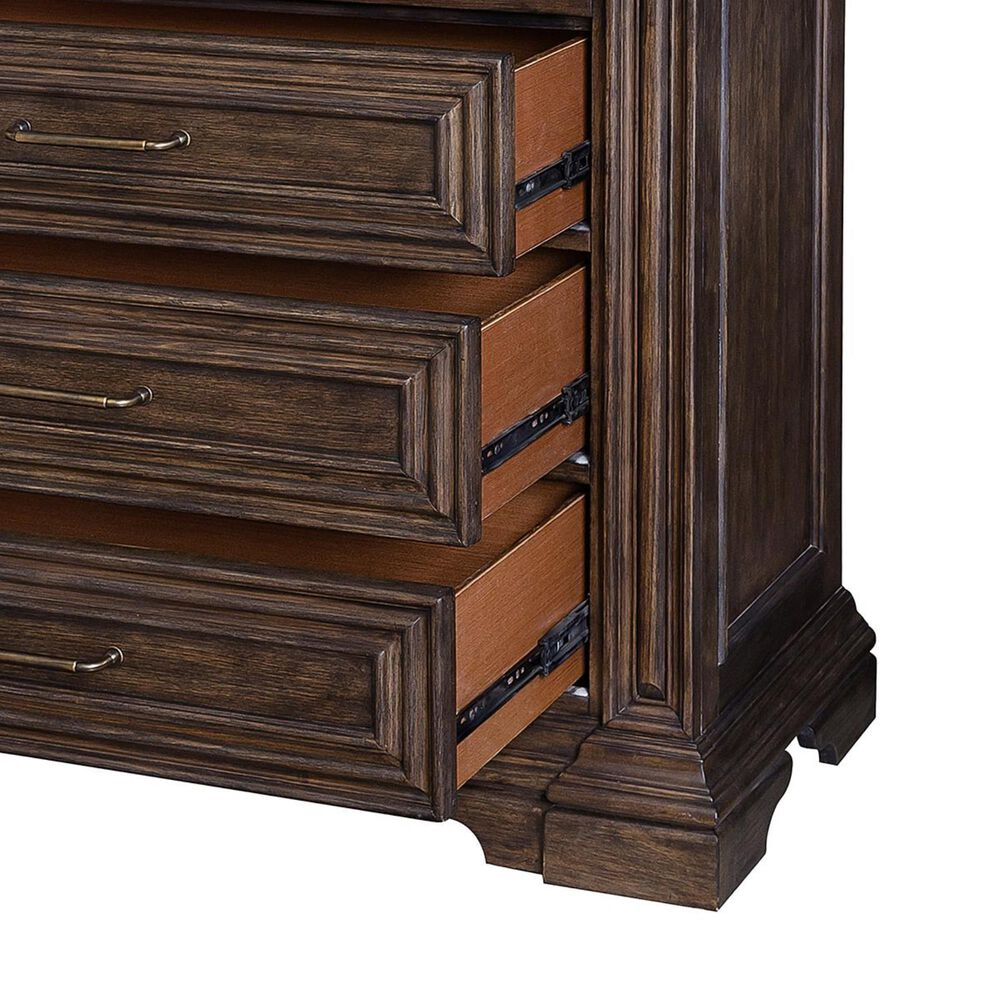 Chapel Hill Bedford Heights 4 Drawer Media Chest in Estate Brown, , large