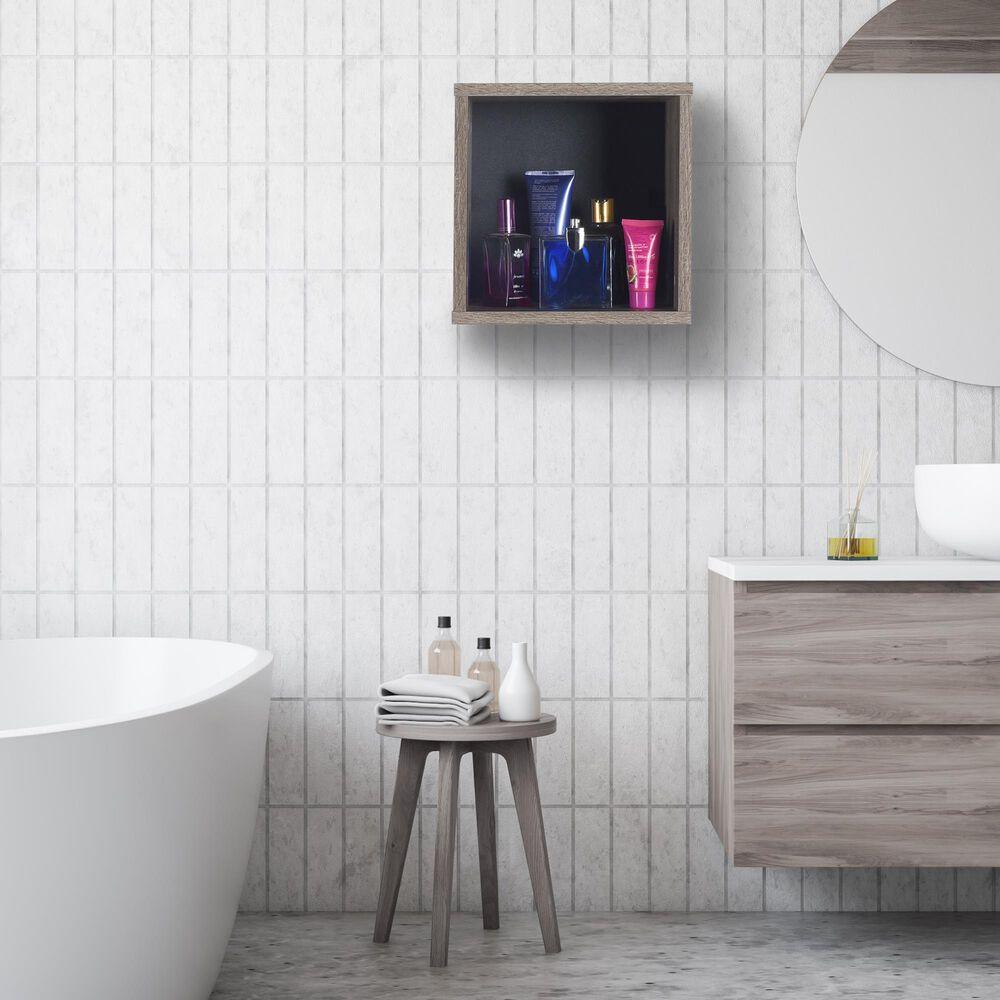 Regency Global Sourcing Niche Lux Cube Wall Shelf in Latte, , large