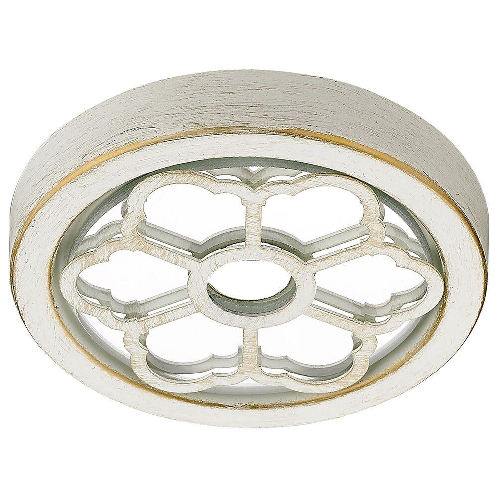 Golden Lighting Saxon 6-Light Chandelier in French White, , large