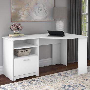 "Bush Cabot 60"" Corner Desk in White, , large"