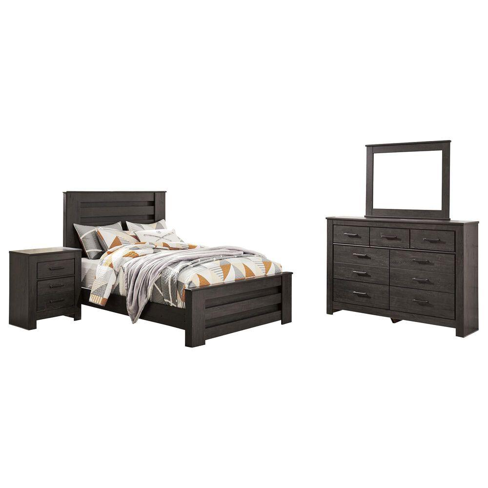 Signature Design by Ashley Brinxton 4 Piece Queen Bedroom Set in Dark Charcoal, , large