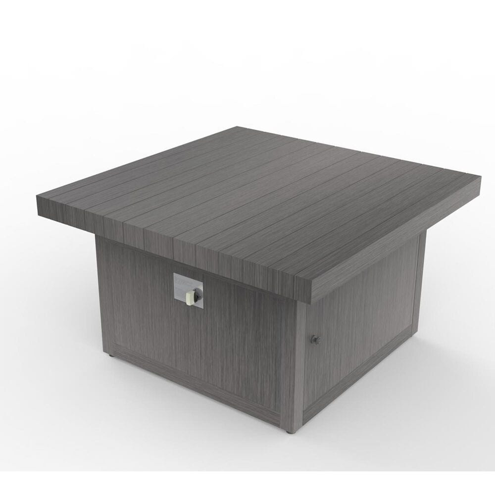 """Plank and Hide Functional 42"""" Fire Pit with Sliding Top in Wenge, , large"""