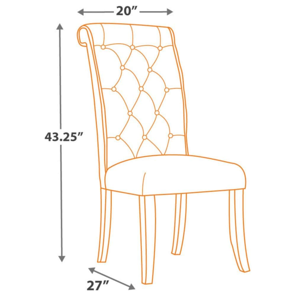 Signature Design by Ashley Tripton Dining Upholstered Side Chair in Linen (Set of 2), , large