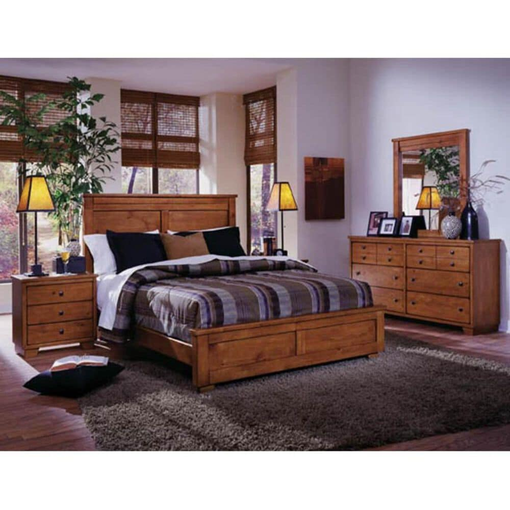 Tiddal Home Diego Queen Bed in Cinnamon Pine, , large